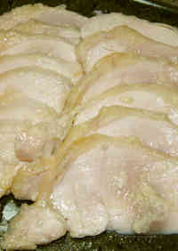 Chicken Breast + Shio-Koji + Olive Oil Cooked in the Microwave
