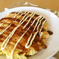 A Single Serving Okonomiyaki with Just Cabbage