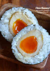 Rich and Exquisite! Onigiri with Seasoned Soft-Boiled Eggs