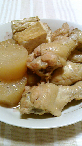 Simmered Chicken Drumettes, Daikon, and Atsuage Tofu