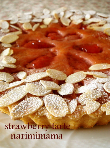 Strawberry Amandine Tart