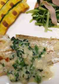 Tonguefish Meunière with Spinach Sauce