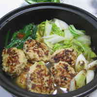 Chicken Meatball and Chinese Cabbage Hot Pot