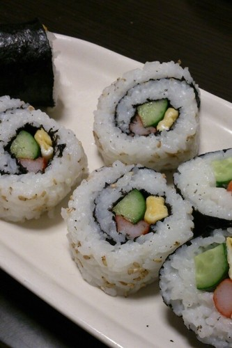 California Roll-Style Sushi Rolls For Cherry-blossom Viewing
