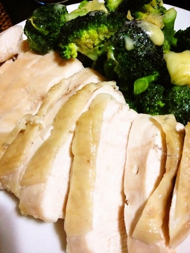 Easy in the Microwave Juicy Steamed Chicken