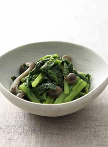 Nanohana & Shimeji Mushroom Namul