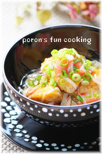 Chicken Tender Piccata with Juicy Imitation Crab Ankake