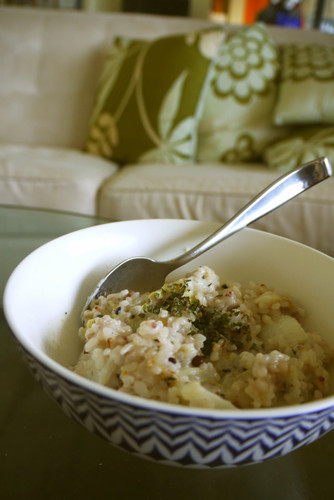 Warm Soy Risotto with Chinese Cabbage