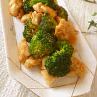 Chinese Stir-Fried Chicken and Broccoli with Mayonnaise