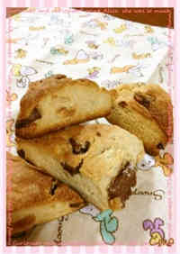 Chocolate Scones with Pancake Mix