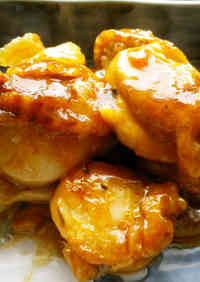 Simple Scallop Sauté in Soy Sauce & Butter