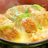 Pork Cutlet Rice Bowl Using Mentsuyu