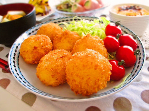 Healthier Fish Croquettes with Hanpen Fish Cakes