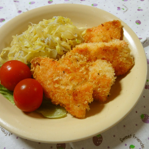 Seasoned Pan-Fried Salmon with Panko