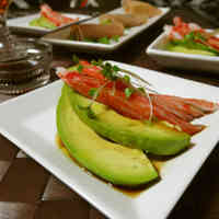 Avocado and Crab Stick Hors D'oeuvre