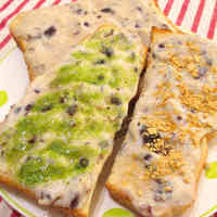 Toast with Healthy Bean Paste and Tofu Cream