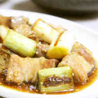 Excellent Pork Belly Block & Japanese Leek in Delicious Sauce