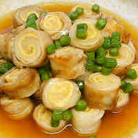 Fried Pork and Aburaage Spirals with Ankake Thick Sauce