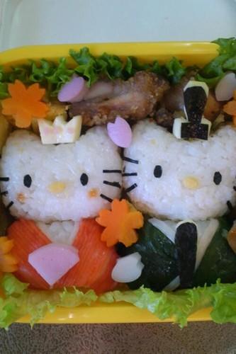 Sakura & Doll's Festival Character Bento Hello Kitty