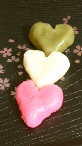 Easy and Lovely Chewy Tender Heart-Shaped Dango (Dumplings)