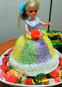 Doll Sushi Cake For Parties and Celebrations