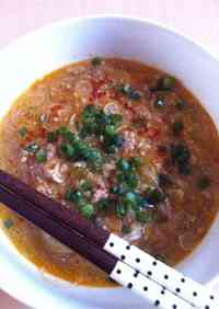 Easy Dan Dan Soup with Ground Sesame Seeds and Doubanjiang