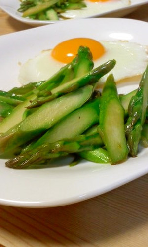 Asparagus in Butter and Soy Sauce