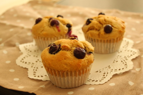 Dairy-free Blueberry Muffins
