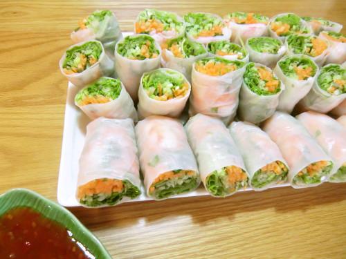 Fresh Spring Rolls with Shrimp