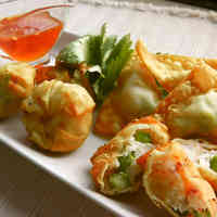 Shrimp and Spring Asparagus Fried Wontons