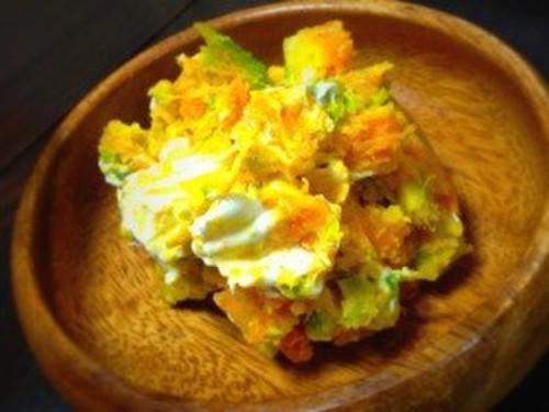 Kabocha Squash and Cream Cheese Salad in 10 Minutes