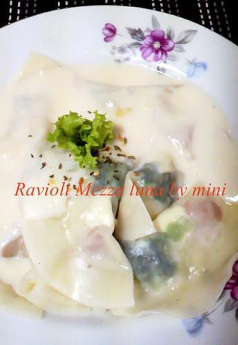Mezzaluna Ravioli made with Gyoza Skins