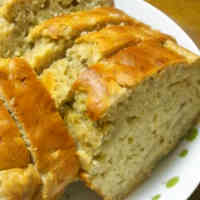 Apple and Banana Pound Cake Made with Pancake Mix