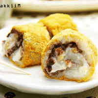 Rolled-Up Ohagi with Walnuts and Cheese