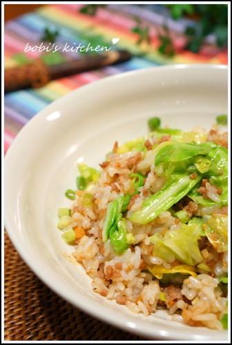 Spring Cabbage & Ground Pork Fried Rice