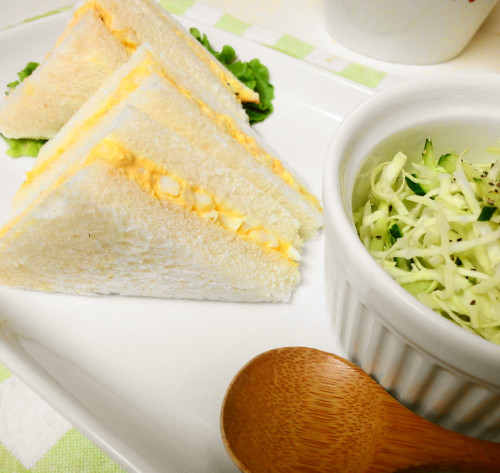 Egg Salad Sandwiches for Hanami Bento