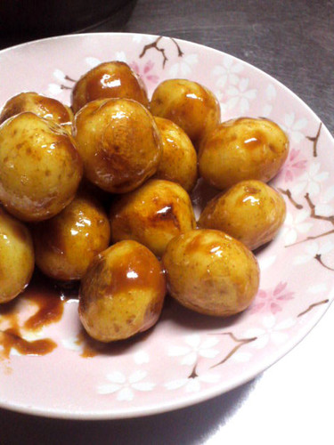 Small New Potatoes Sautéed Teriyaki Style in Sweet and Sour Miso
