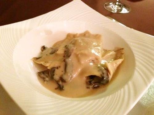 Porcini Mushroom Ravioli in Soy Milk Sauce