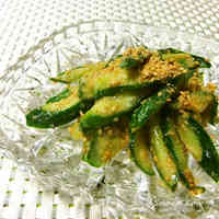 Cucumber with Sesame Seeds