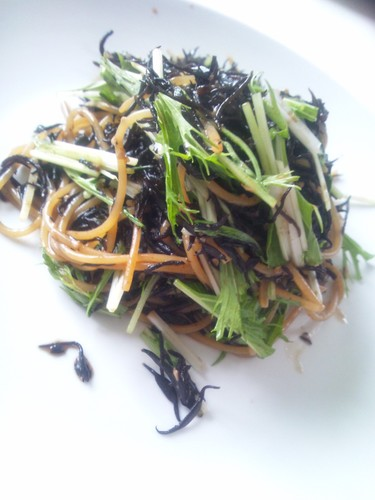Packed with Iron Hijiki Seaweed Butter and Soy Sauce Pasta