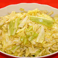Spring Cabbage Salad with Sesame Oil, Lemon Juice and Salt
