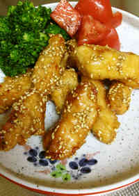 "Nagoya-style Sweet and Spicy ""Chicken Bars"""