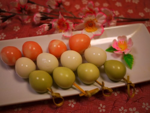Tricolored Quail Eggs for Hanami Bentos