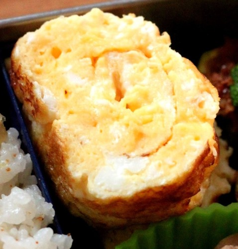 Fluffy Mayo Cheese Tamagoyaki for Your Bento