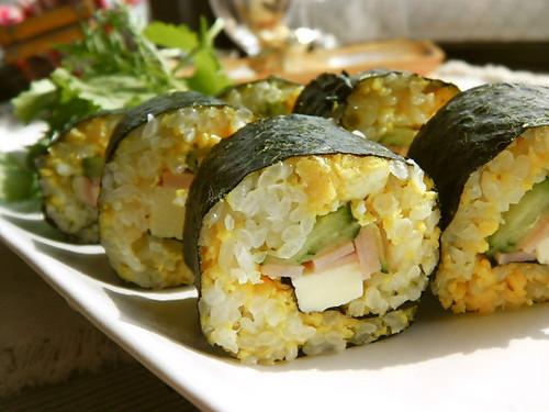 Luxurious Spring Hanami Bento Nori Seaweed Rolls