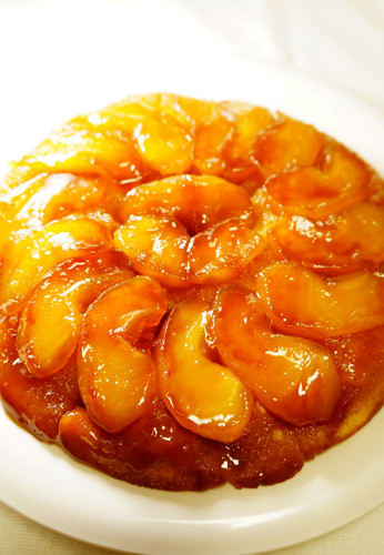 Apple Cake Made with Pancake Mix in a Frying Pan (Version 2)