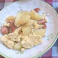 Warm and Cozy German Potatoes with Eggs and Sausage