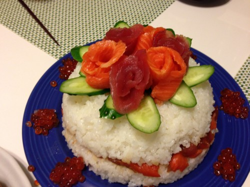 Sushi Cake for Festive Occasions