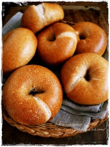 Wheat Bran and Walnut Bagels