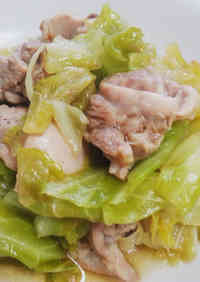Easy Chicken Stock Flavored Chicken & Cabbage
